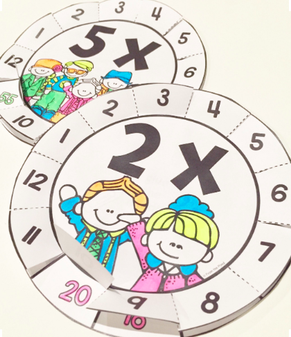 primary school times tables